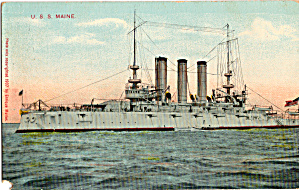 Uss Maine Bb 10 Battleship Postcard P29733