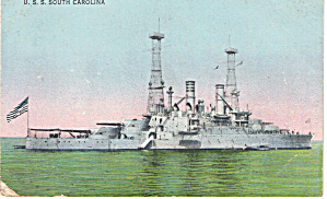 Uss South Carolina, Bb 26 Superdreadnought Battleship P29739