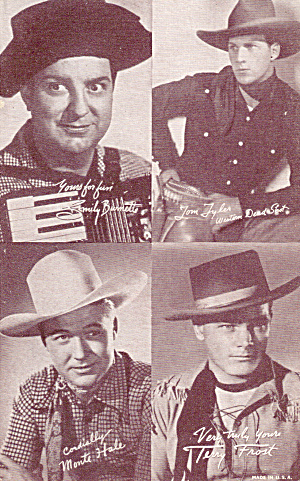 Four on One Western Stars Arcade Card #2 p29746 (Image1)