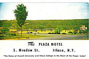 Plaza Motel Ithaca New York Postcard p29751 (Image1)