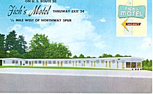 Fick s Motel Albany New York Postcard p29766 (Image1)