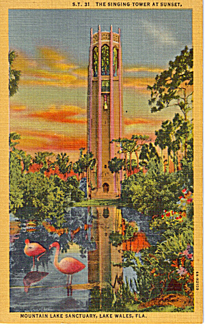 Singing Tower at Sunset, Lake Wales, Florida (Image1)