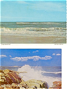 Scenic Surf Postcard Lot Of 2
