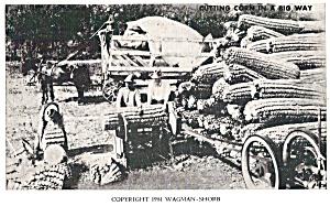 Cutting Corn in a Big Way Postcard p29857 (Image1)