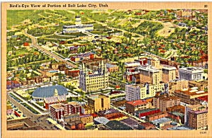 Aerial View Of Salt Lake City Ut P29906