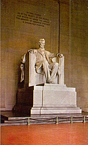 Seated Lincoln In Lincoln Memorial Washington Dc P29983