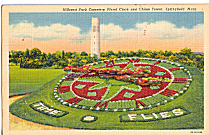 Floral Clock Chime Tower Hillcrest Park Cemetery,Springfield MA p29988 (Image1)