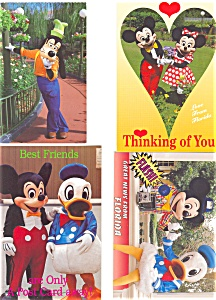 Mickey s Florida Collection Postcard p2998 Lot of 4 (Image1)