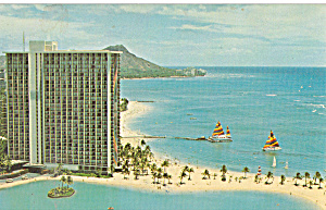 Hilton Hawaiin Village Honolulu Hi Postcard P30015