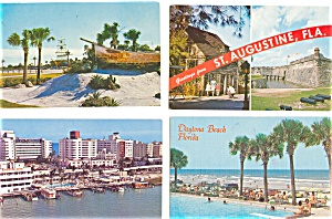 Florida Postcard Lot Of 12 P3002