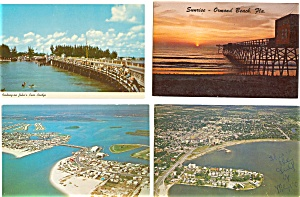 Florida Postcard Lot Of 8 P3003