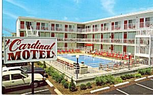 Cardial Motel N Wildwood NJ Postcard p30047 (Image1)