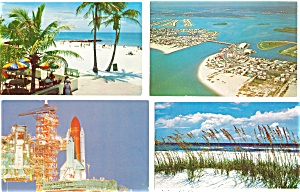Florida Postcard Lot Of 4 P3004