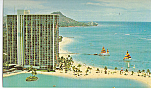 Hilton Hawaiian Village Honolulu Hi Postcard P30066
