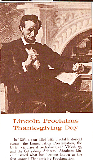 Abraham Lincoln Thanksgiving Day Proclamation p30096 (Image1)