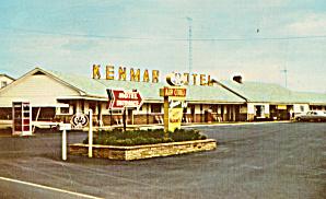 Kenmar Motel Newburg PA Postcard p30115 (Image1)