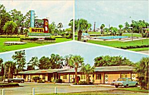 Peach State Motel US 17 Brunswick GA Postcard p30117 (Image1)