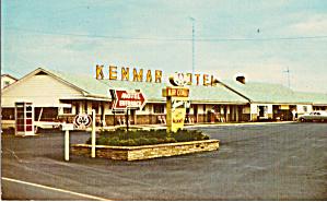 Kenmar Motel Newburg PA Postcard p30119 (Image1)