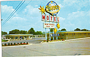 Star Dust Motel Restaurant North Lima OH Postcard p30120 (Image1)