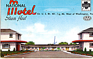 National Motel Washington Pa Postcard P30156