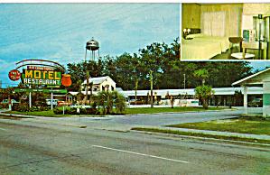 Rainbow Motel Restaurant Callahan FL Postcard p30166 (Image1)