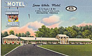 Snow White Motel Richmond VA Postcard p30184 (Image1)