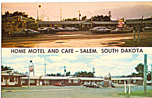 Home Motel And Cafe Salem Sd Cars 1960s P30208