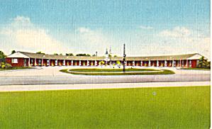 Siesta Court Allendale SC Postcard p30231 (Image1)