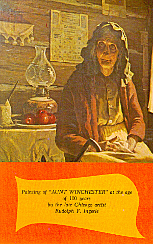 Painting of Aunt Winchester Rudolph F Ingerle Postcard p30256 (Image1)