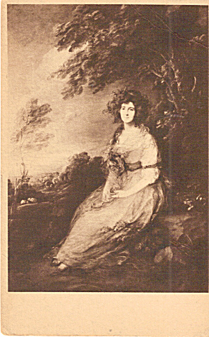 Mrs Richard Brinkley Sheridan Gainsborough Postcard p30263 (Image1)