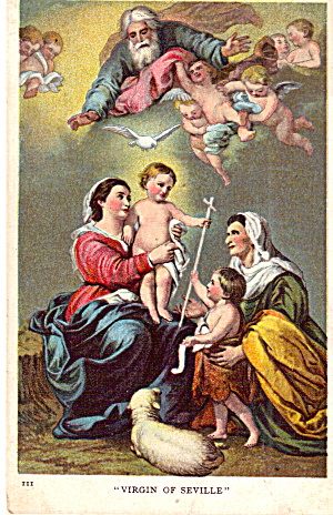 Virgin of  Seville Artwork Religious Postcard (Image1)