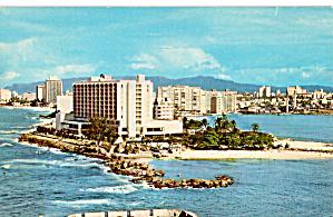 San Jeronimo Hilton San Juan Puerto Rico Postcard p30306 (Image1)