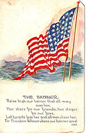 The Banner 48 Star Flag Postcard p30316 (Image1)