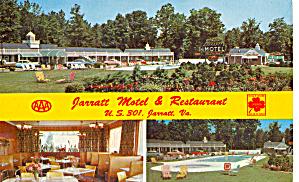 Jarrat Motel Restaurant Jarratt VA Postcard p30325 (Image1)