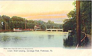 Boat Landing Sanatoga Park Pottstown PA  p30387 1905 (Image1)