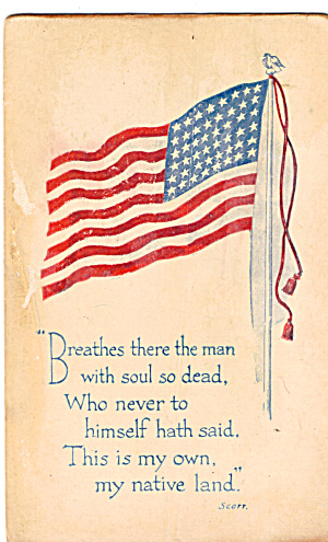 48 Star Flag and Poem by Scott Postcard p30426 (Image1)