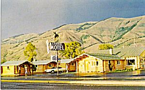 Corral Motel  Afton  WY Postcard p30446 (Image1)