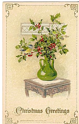 Christmas Greeting Postcard p30450 1913 (Image1)