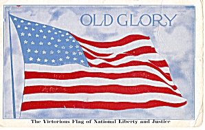 Old Glory 48 Star Flag Postcard P30464