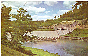 Dover Dam near Dover OH SOHIO Postcard p30470 (Image1)