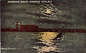 Sailboat on Moonlite Waters  Atlantic City  NJ p30479 (Image1)