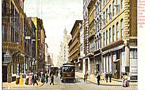 Chestnut Street, Philadelphia, Trolley 1906 (Image1)