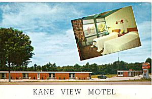 Kane View Motel Kane PA Postcard p30521 (Image1)