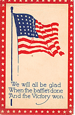 48 Star Flag Wwi Era Patriotic Postcard P30536
