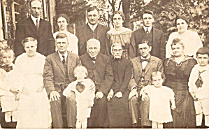 Large Family Group Picture Postcard (Image1)