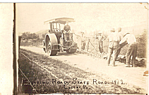 Early Road Paving Scene Pennsylvania, 1912