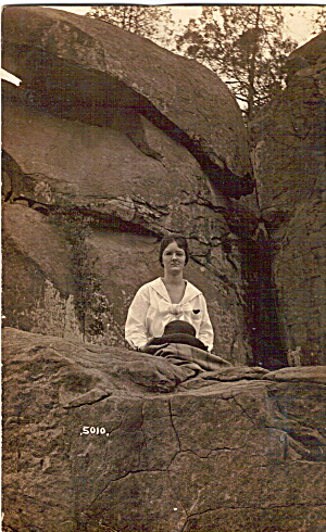 Picture of a Woman on a Rock p30554 (Image1)