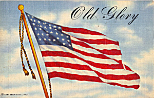 Old Glory With A Gi S Message On Reverse Postcard P30584
