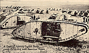 Wwi Tanks Ready For Action With American Troops P30650