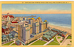 Hotels Steel Pier Aerial Atlantic City Nj P30656